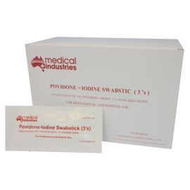 POVIDONE IODINE SWAB STICK 3's product photo