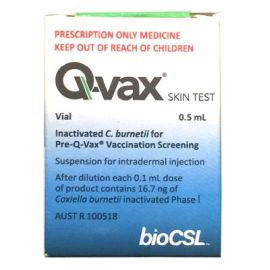 Q-VAX FOR SKIN TEST VIAL product photo