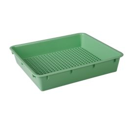 TRAY INSTRUMENT PERF 270x150x30mm GREEN (10) product photo