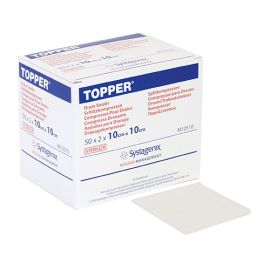 TOPPER DRAIN SWABS ST 10cm x 10cm 2s (50) product photo