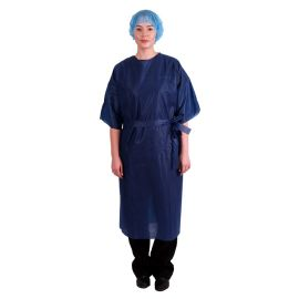 GOWN PATIENT SHORT SLEEVE BLUE NST (50) product photo