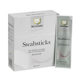 SWAB STICK CHLORHEX 2% ALC 70% 3 PACK product photo